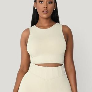 Lina Sleeveless Crop Top